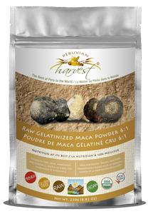 Peruvian Harvest Premium Raw Gelatinized 6:1 Maca Powder (250g)