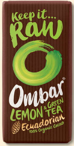 Ombar, Organic Lemon & Green Tea Chocolate (35g)