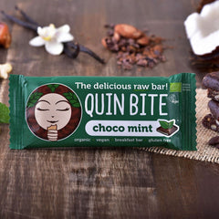 Quin Bite Raw Bar - Choco Mint (30g) | QUIN BITE 能量棒 -  朱古力薄荷 (30克)