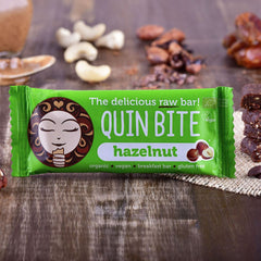 Quin Bite Raw Bar - Hazelnut (30g) | QUIN BITE 能量棒 -  榛子 (30克)