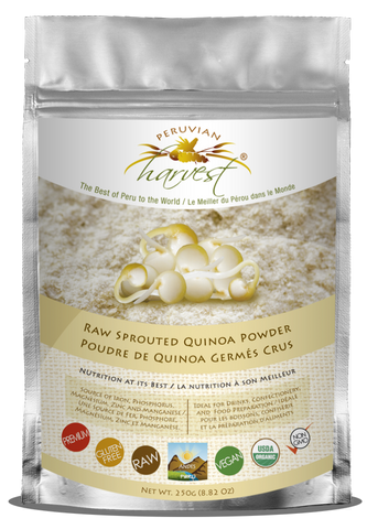 [PROMOTION] Peruvian Harvest Raw Sprouted Quinoa Powder (250g) | [特價] Peruvian Harvest 生機發芽藜麥粉 (250克)