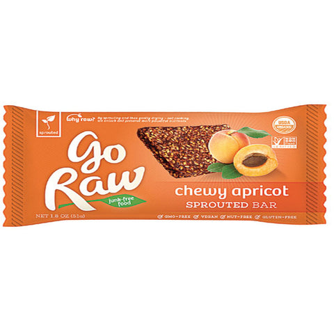 Go Raw Chewy Apricot Bar (12g)| Go Raw 能量棒 - 杏子亞麻籽 (12克)