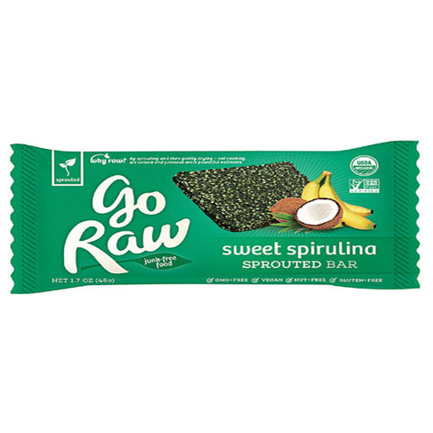 Go Raw Sweet Spirulina Bar (14g)| Go Raw 能量棒 - 螺旋藻亞麻籽 (14克)