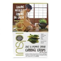 Inspiral Salt and Pepper Savoy Cabbage Crisps 40g | Inspiral 和風海鹽和胡椒棷菜片40g