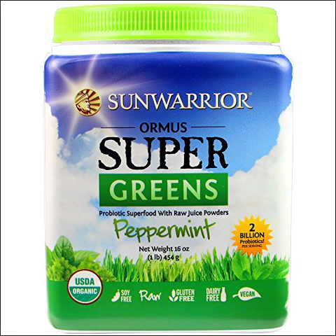 Sunwarrior Ormus Supergreens Powder - Peppermint (454g)| Sunwarrior 歐瑪斯青汁粉 - 薄荷味 (454克)