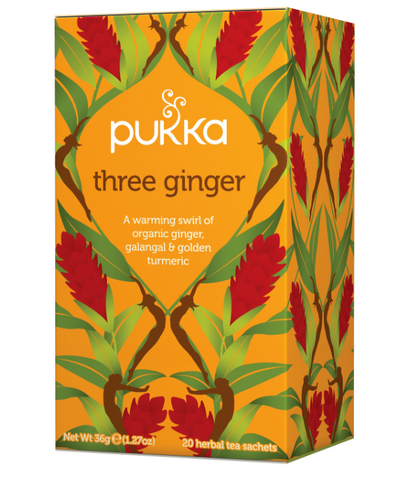 PUKKA - Organic Three Ginger Tea (20 sachets)|PUKKA - 有機三薑茶 (20包)