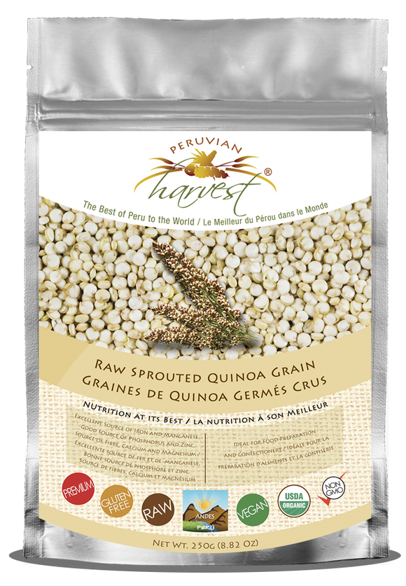 Peruvian Harvest Raw Sprouted Quinoa Grain (250g) | Peruvian Harvest 生機發芽藜麥 (250克)