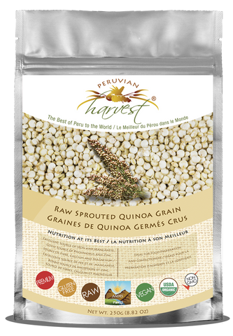 Peruvian Harvest Raw Sprouted Quinoa Grain (250g)