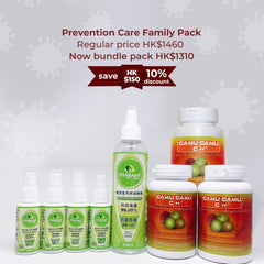 Prevention Care Family Pack: Miriguard and Camu Camu combo