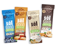 Sunwarrior Organic Sol Good Protein Bars - Blueberry Blast (62g)|Sunwarrior Sol Good有機蛋白能量棒 - 藍莓味 (62g)