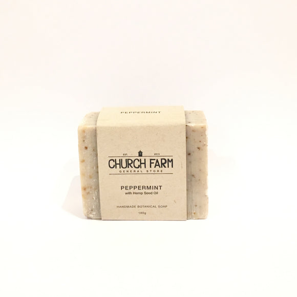 Naturally Handmade - Australian Peppermint with Hemp Seed Oil Soap