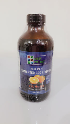 Blue Ice Fermented Cod Liver Oil (Oslo Orange Liquid) (237ml) |Blue Ice 發酵鱈魚肝油 - 橙味 (237毫升)