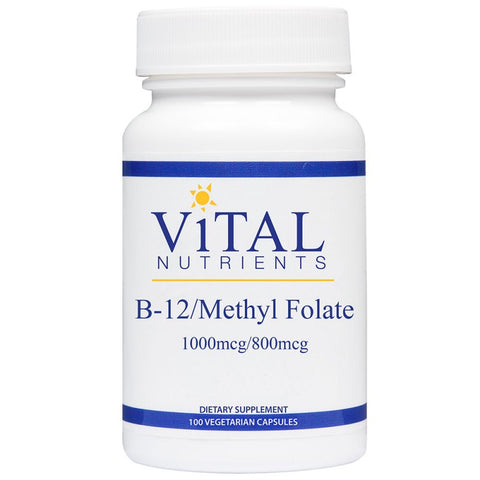 Vital Nutrients B12/Methyl Folate 1000mcg/800mcg (100 Caps) | Vital Nutrients 維他命 B12/甲基葉酸 1000mcg/800mcg (100粒)