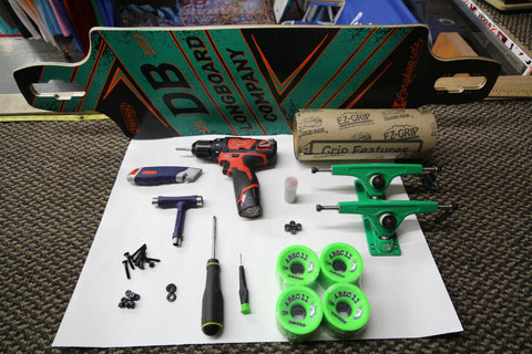 DB Longboard, Atlas Trucks, and Abec 11 Big Zigs