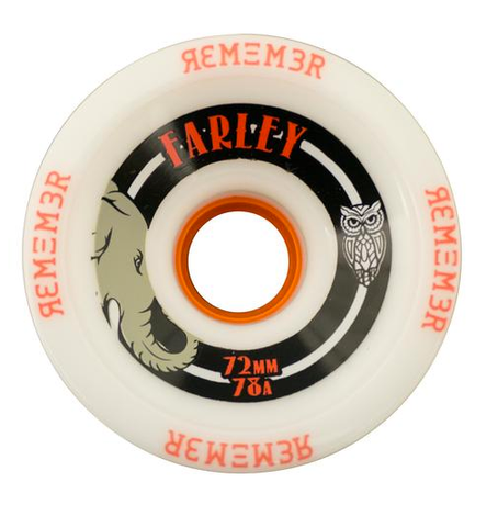 Remember: 72mm Farley Longboard Skateboard Wheel