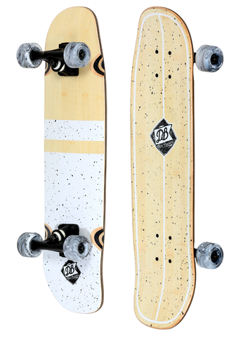 "DB: Salt and Pepper 28.75"" Longboard Skateboard Complete"