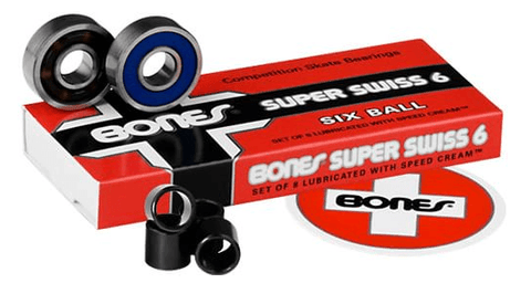 Bones: Swiss 6-Ball Longboard Skateboard Bearings - Motion Boardshop