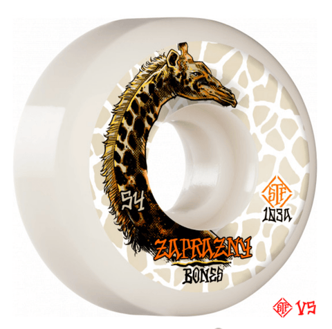 Bones: Zaprazny 52mm V5 Sidecut Skateboard Wheels - Motion Boardshop