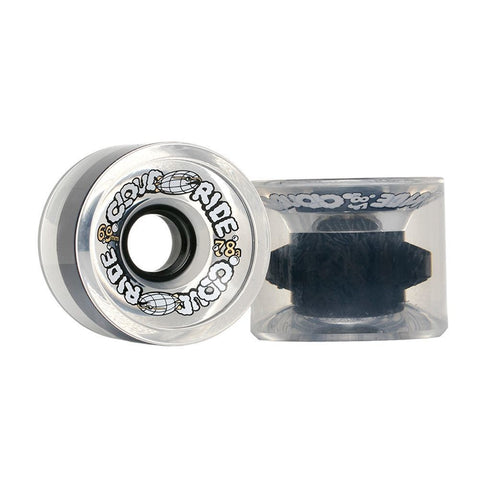 Cloud Ride: Clear Cruiser Longboard Skateboard Wheels