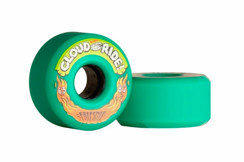 Cloudride: 63mm Freestyle Longboard Wheels - Motion Boardshop