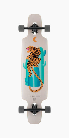 "Landyachtz: Drop Carve Desert Tiger 37"" Longboard Skateboard Complete - Motion Boardshop"