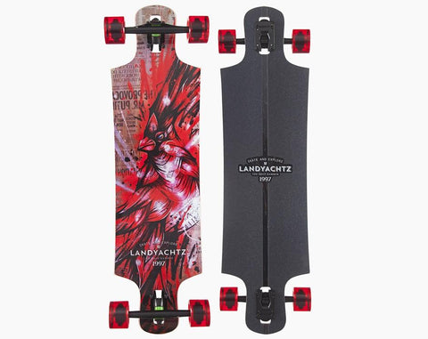 Landyachtz: Maple Drop Hammer Cardinal Complete - Motion Boardshop