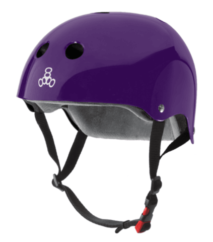 Triple 8: Certified Sweatsaver Helmet (Purple Glossy) - Motion Boardshop