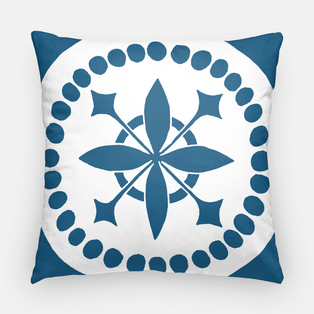 Throw pillow | Square | Beads Pattern | Tiles Collection | 2 Sizes | 7 Colors | Insert optional