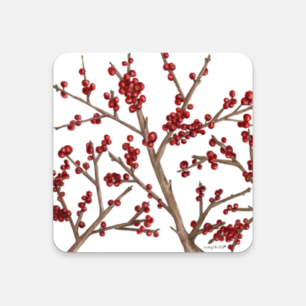 Coaster | Winterberry Pattern | Seasons Collection