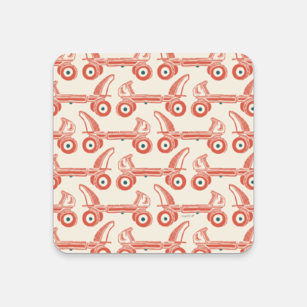 Coaster | Vintage Roller Skates Pattern | Retro Collection | 5 colors