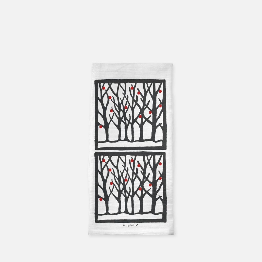 Classic flour sack towel | Winter | Trees Collection