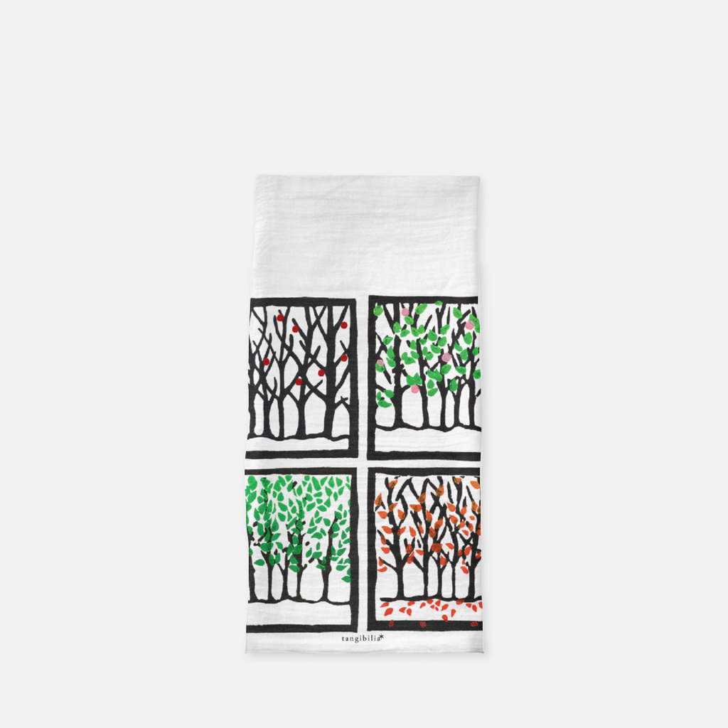 Classic flour sack towel | Four Seasons | Trees Collection