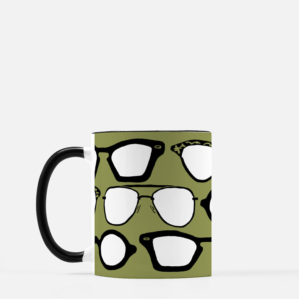 Ceramic mug | Vintage Eyewear | Library Green | Retro Collection | 11 fl oz