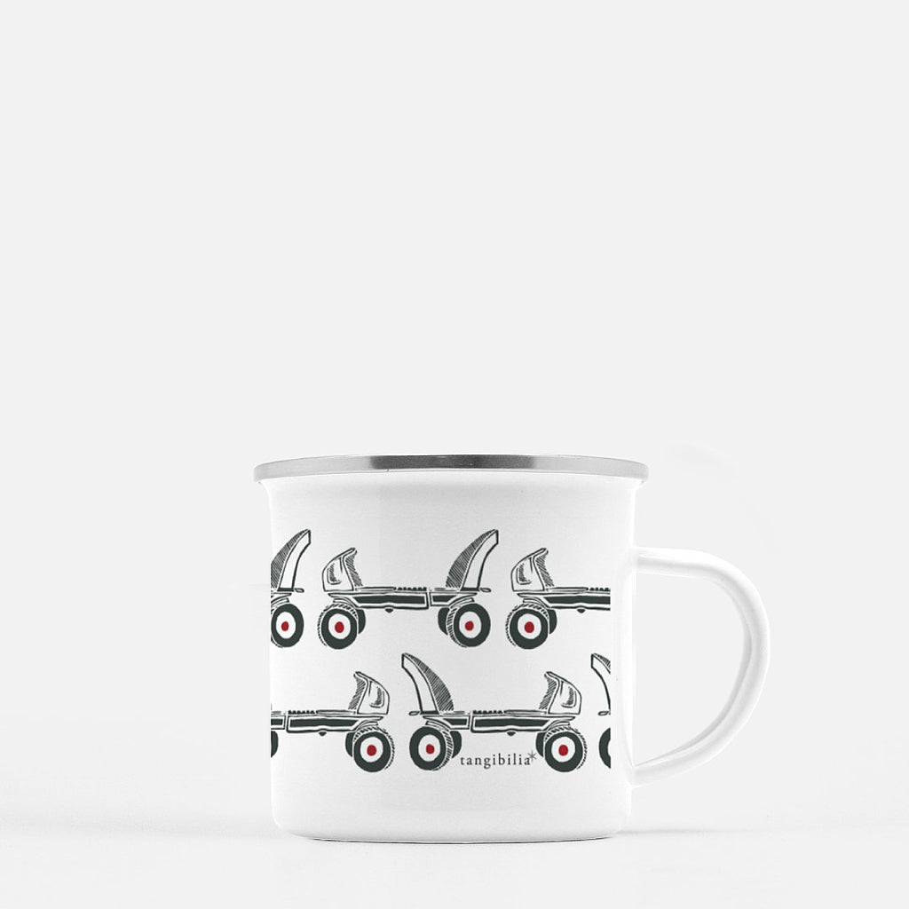 Camp mug | Vintage Roller Skates | Retro Collection