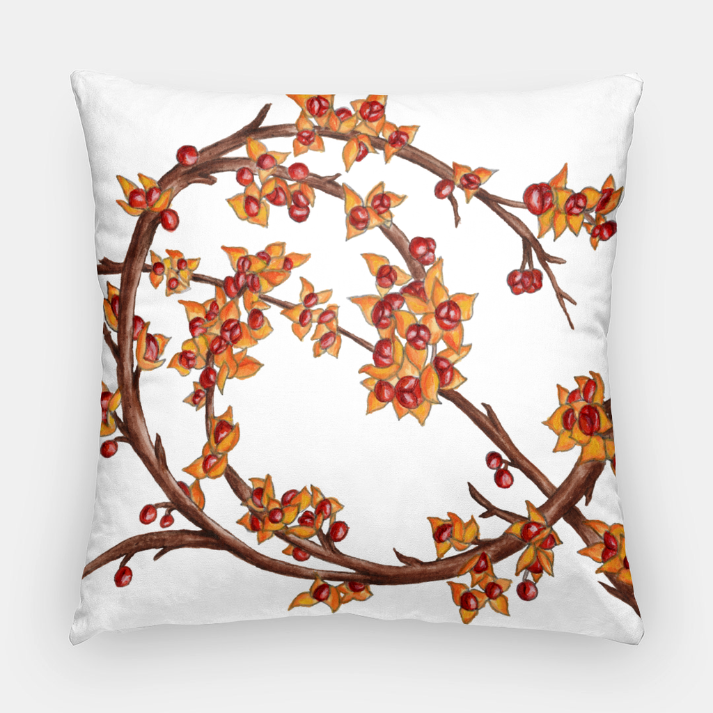 Throw pillow | Square | Bittersweet Pattern | Seasons Collection | 2 Sizes | Insert optional