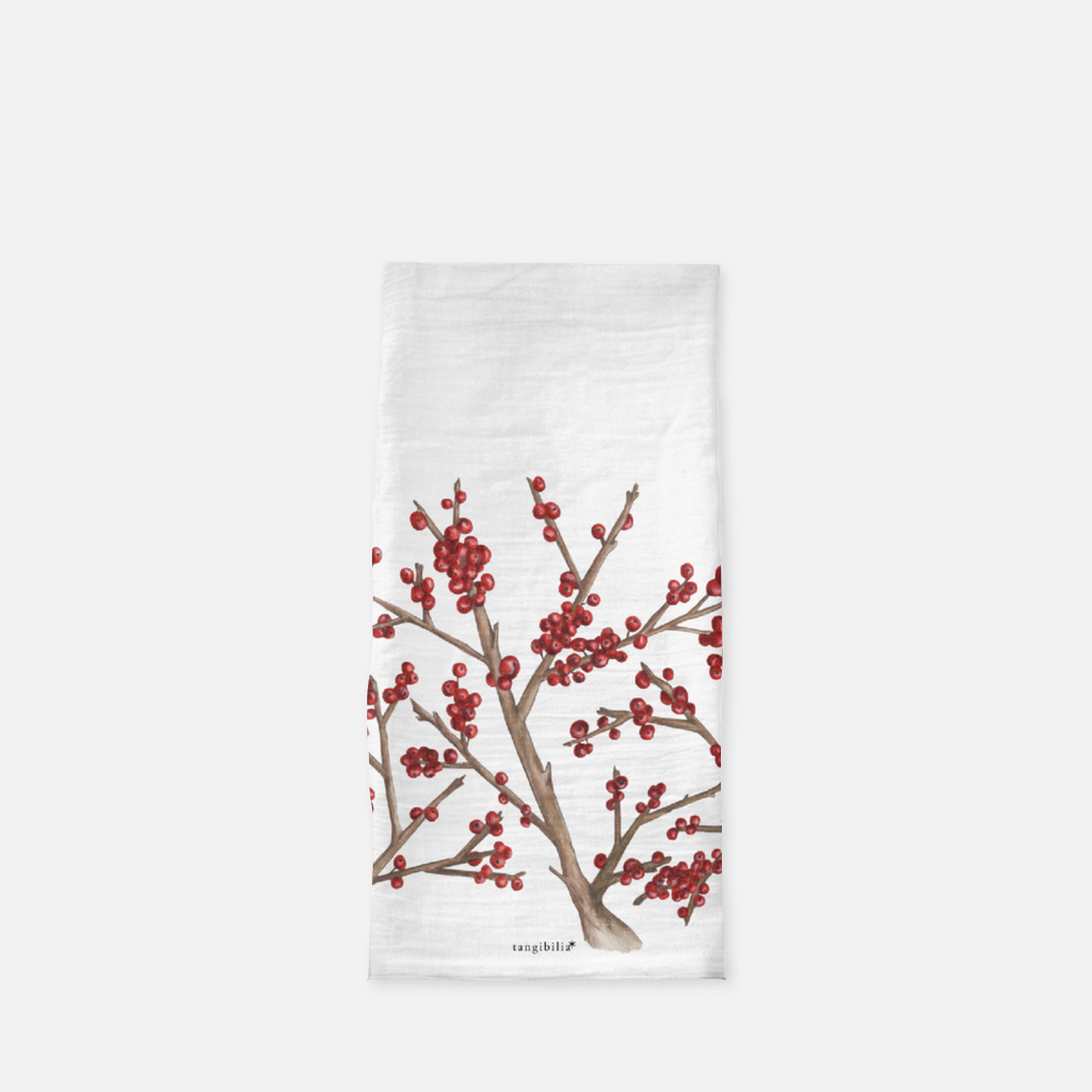 Classic flour sack towel | Winterberry | Seasons Collection