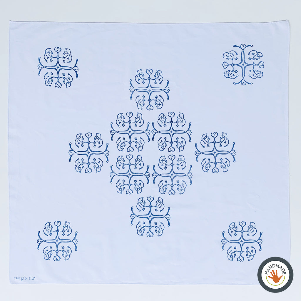 Bandana | Bellflower pattern | Tiles collection | Hand-printed
