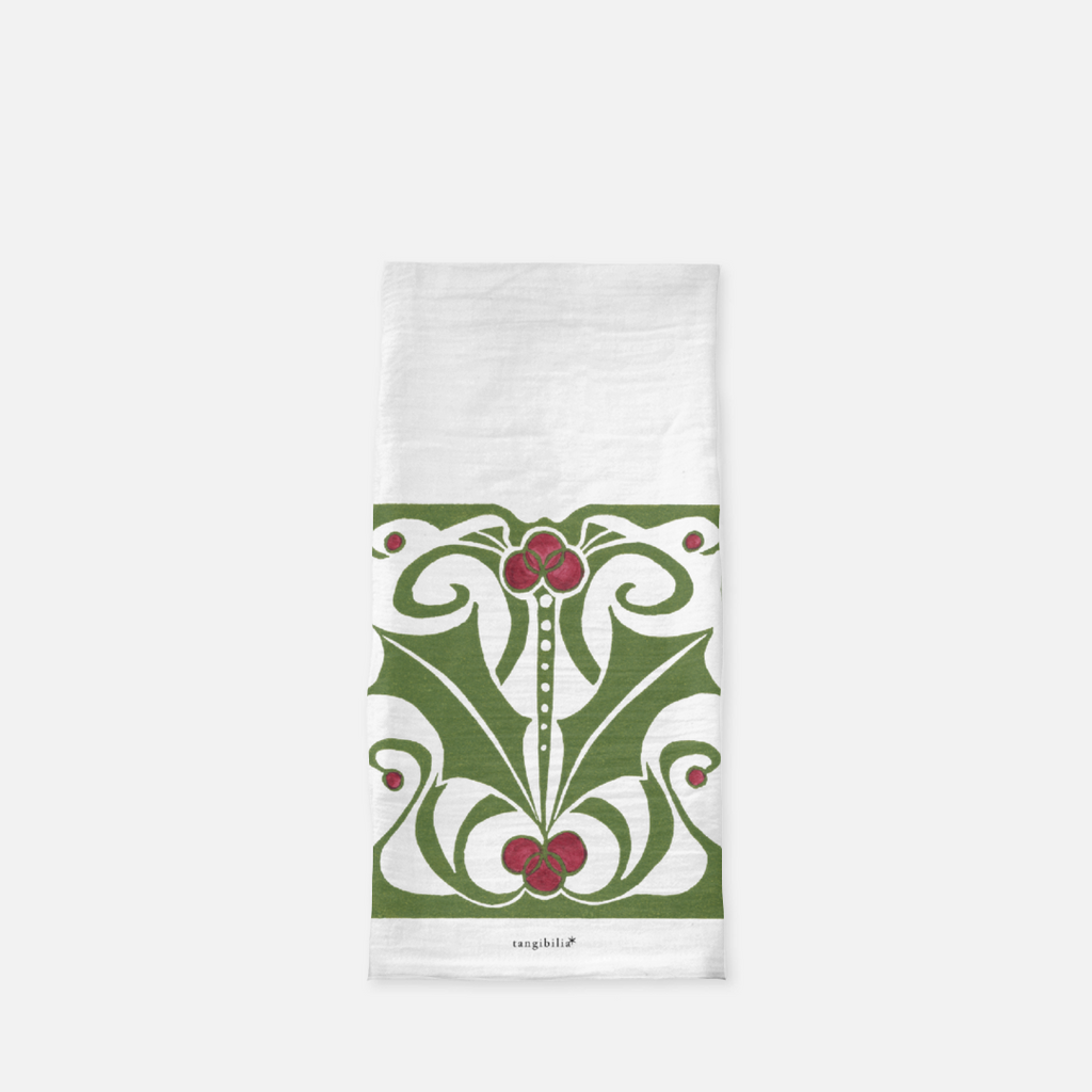 Classic flour sack towel | Nouveau Holly | Holiday Collection