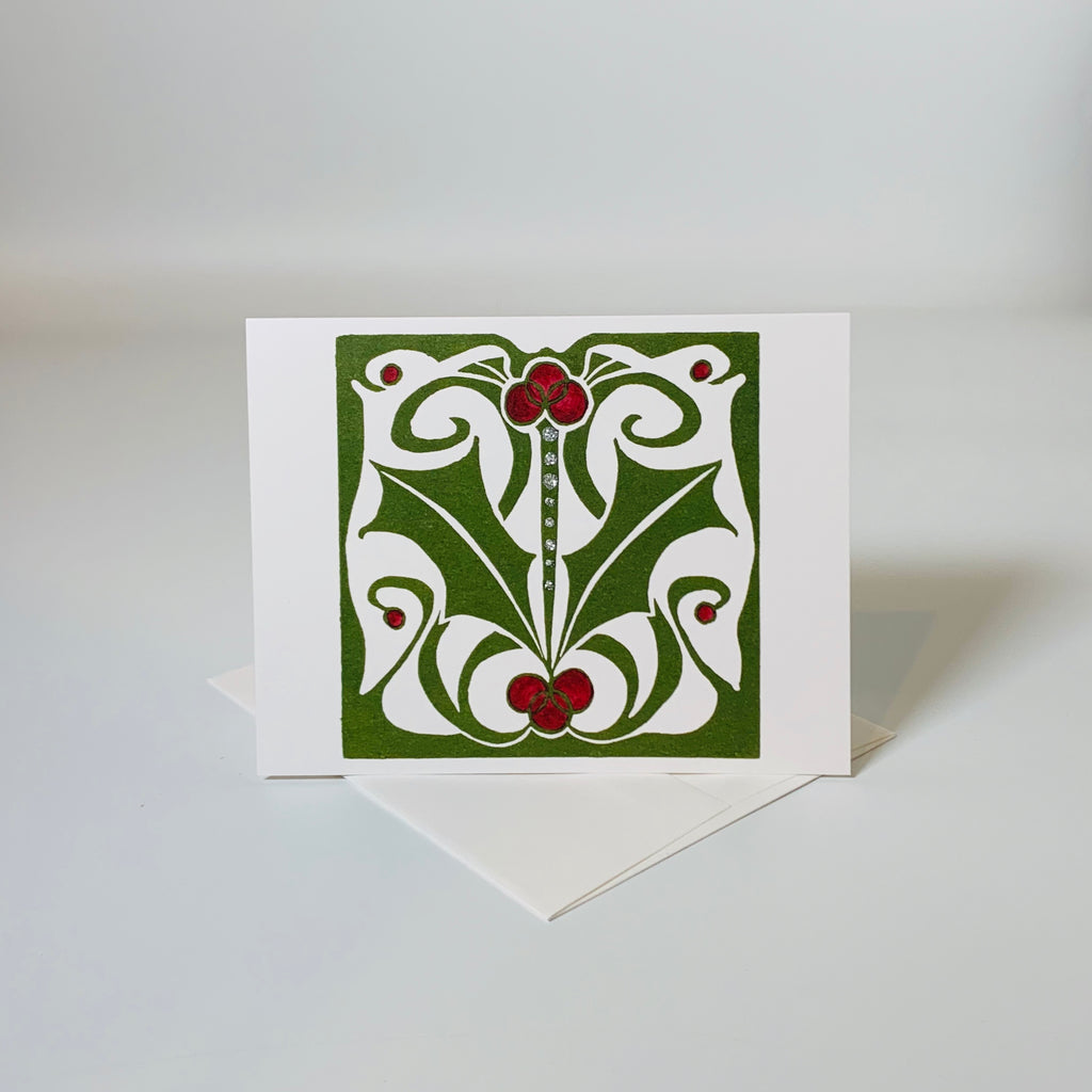 Greeting card | Nouveau Holly | Holiday Collection