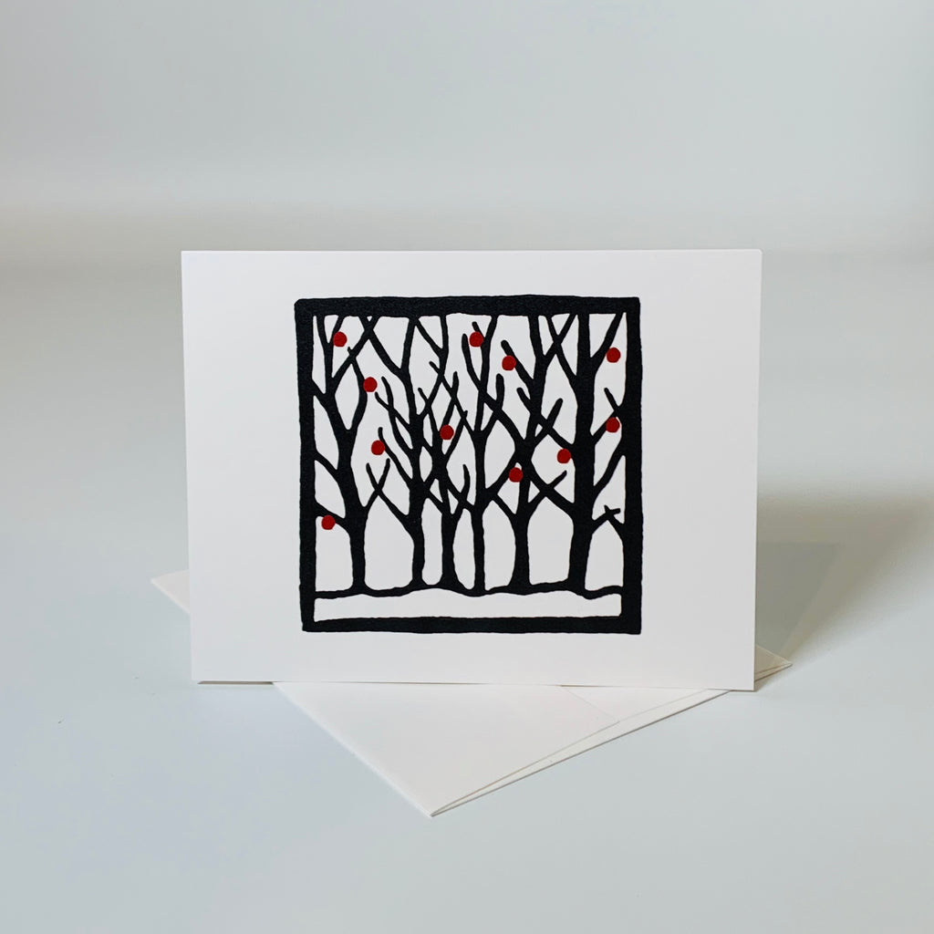 Greeting card | Winter | Trees Collection
