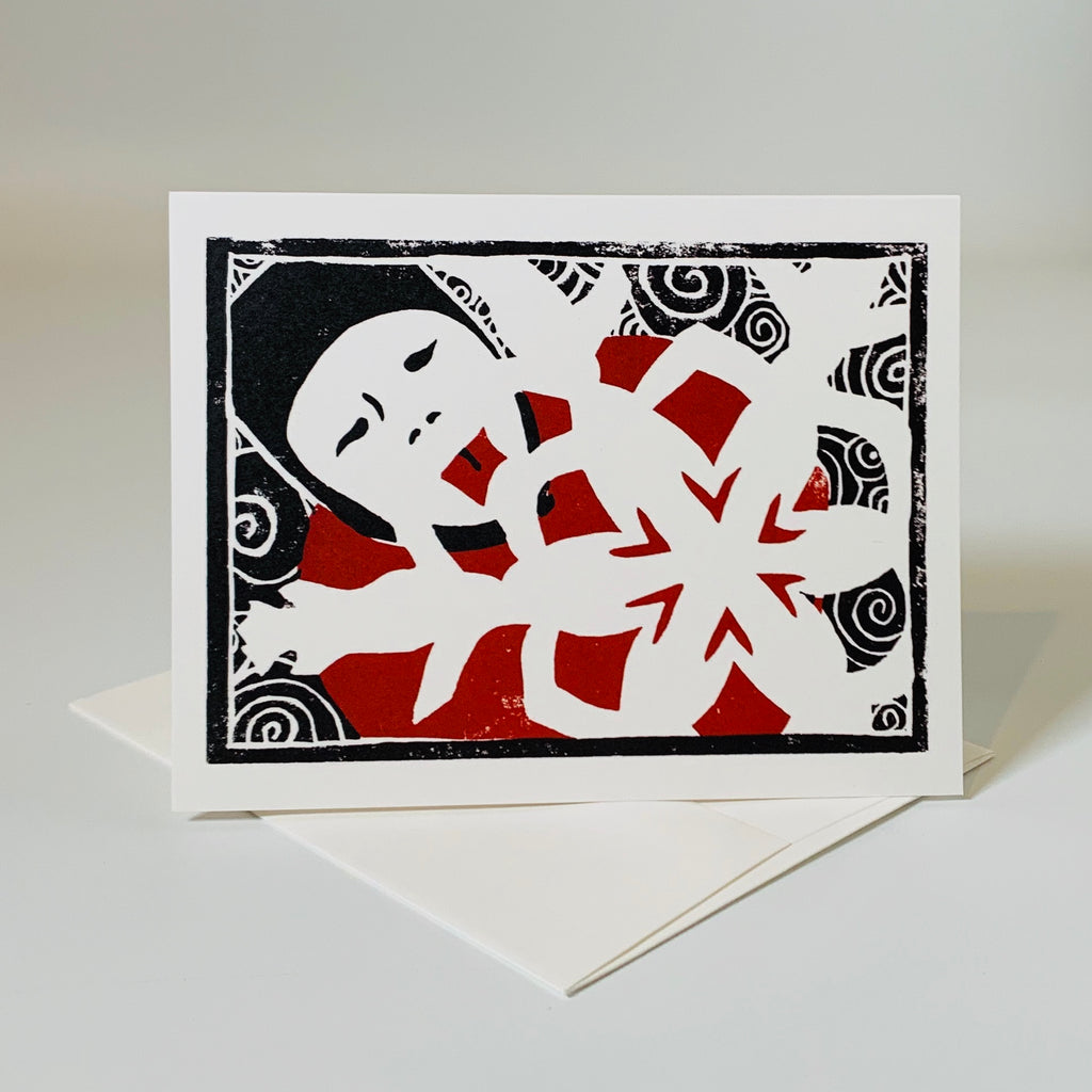 Greeting card | Catching Snowflakes | Holiday Collection