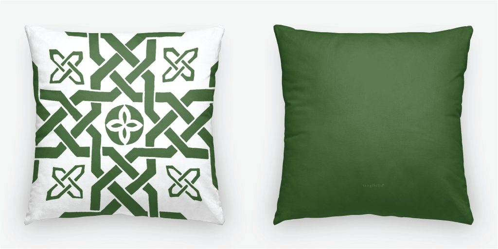 Throw pillow | Square | Knots Pattern | Tiles Collection | 2 Sizes | 7 Colors | Insert optional