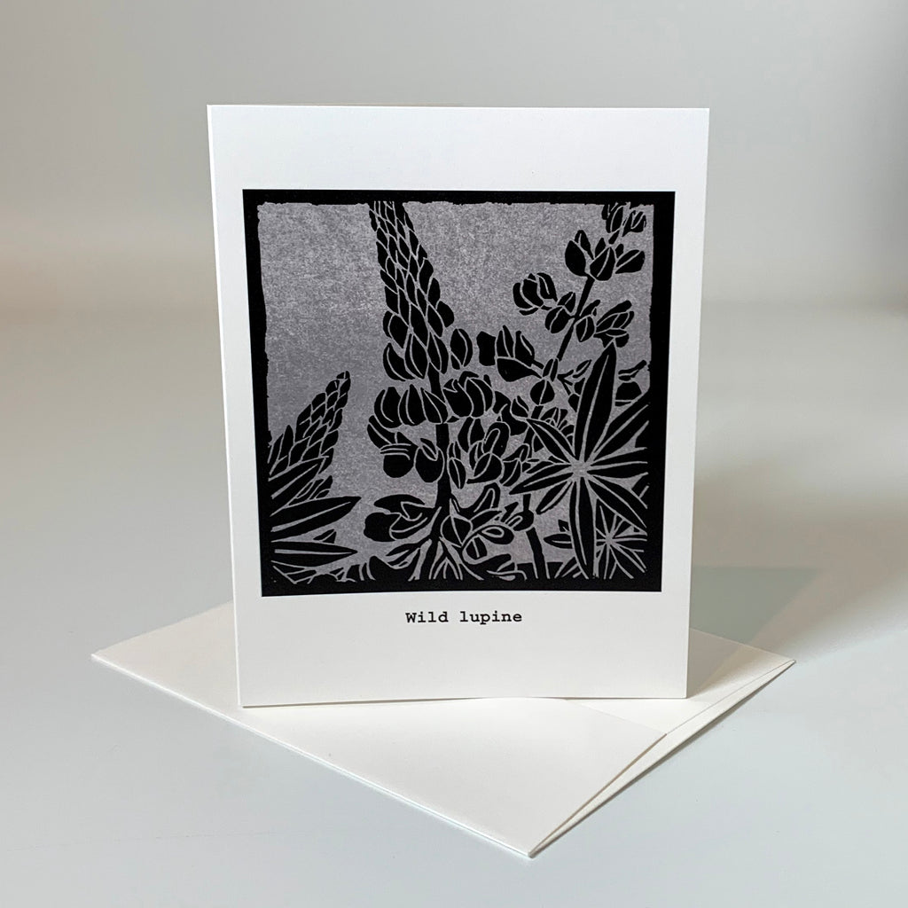 Greeting card | Wild Lupine | Native Flowers Collection