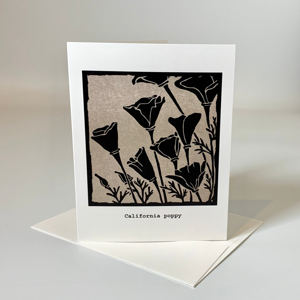 Greeting card | California Poppy | Native Flowers Collection