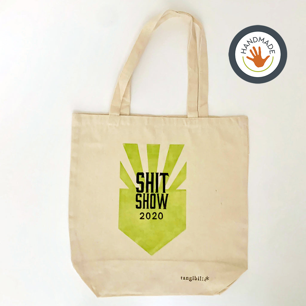 Tote | medium weight | You're on Mute | Hand-printed | cotton | retro | fun | block print | gift | bag
