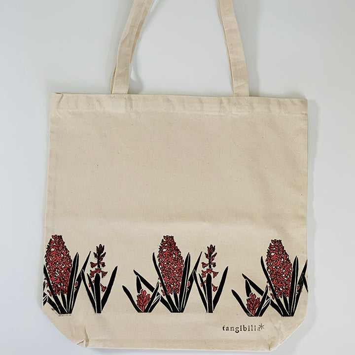 Tote Bag | Hyacinth | Spring Flowers Collection | Hand-printed & painted