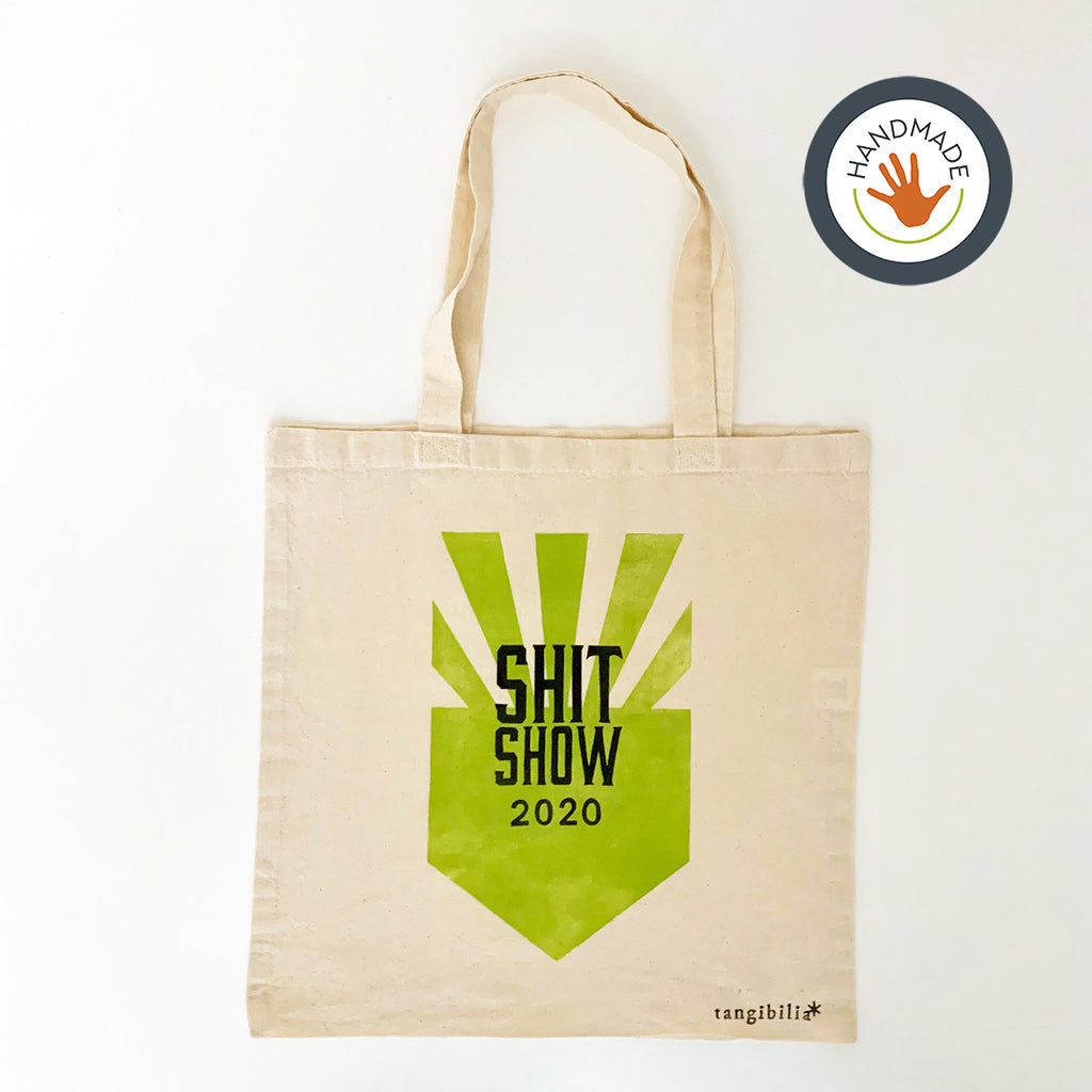 Tote | lightweight | Shitshow 2020 | Hand-printed | cotton | retro | fun | block print | gift