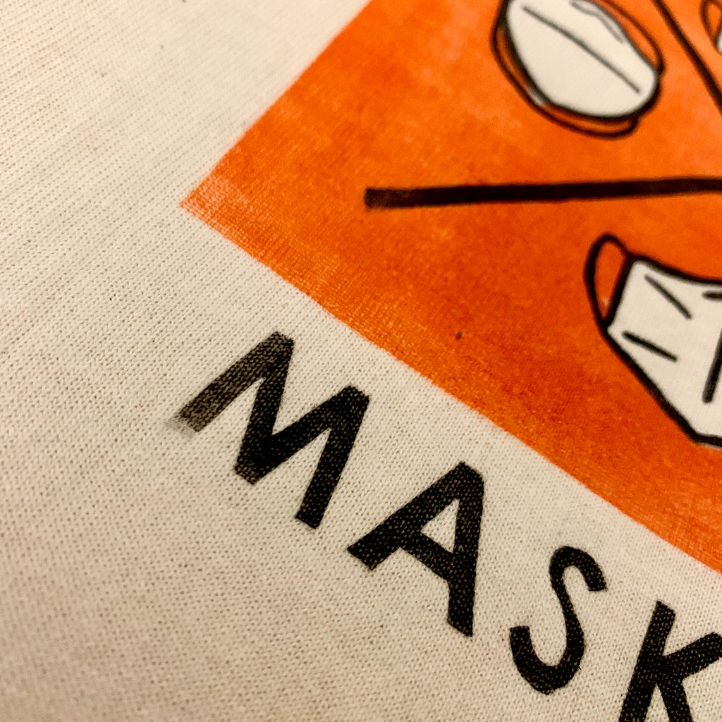 T-shirt | Mask Up | handmade | block print | gift | cotton | graphic tee | fun | unisex | retro | vintage