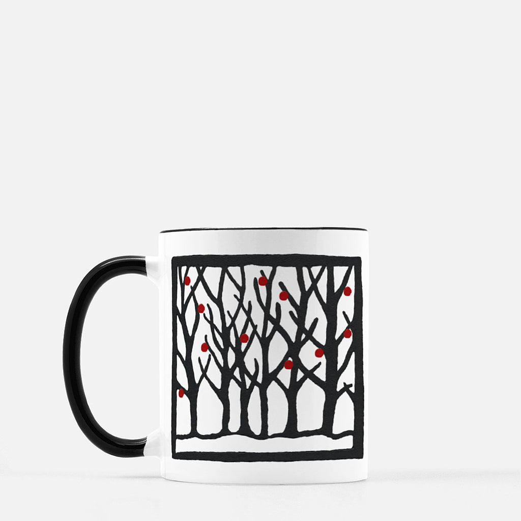 Ceramic mug | Winter | Trees Collection | 11 fl oz