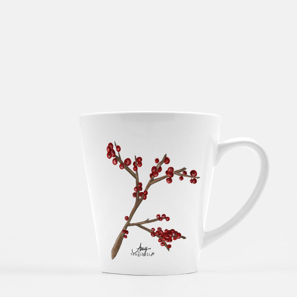 Ceramic mug | Winterberries | Seasons Collection | 12 fl oz